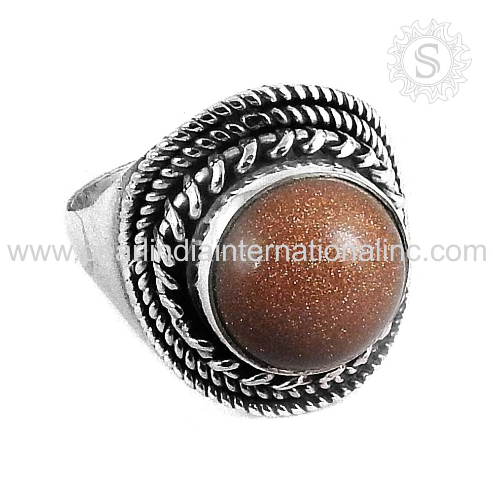 Delectable Red Sun Sitara Gemstone Jewelry 925 Sterling Silver Ring Fine Jewelry Wholesaler