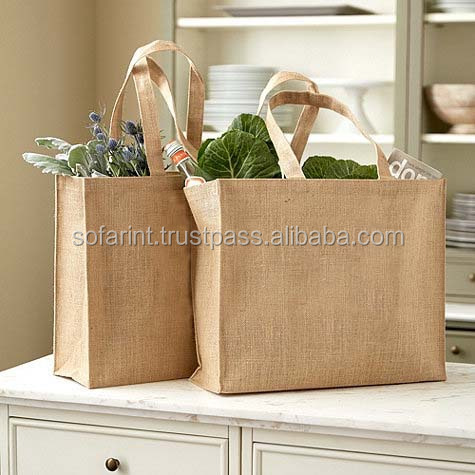 Eco Laminated Jute bag/ Jute Shopping Bag/ Promotional Jute Bag