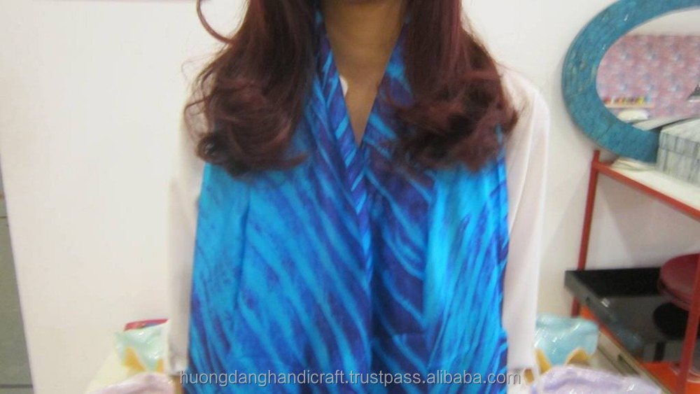 Unique design lady scarves made of 1005 soft silk, fashionable silk scarf from Vietnam