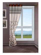Beautiful decorative Wholesale new style Home Brown Window Curtain