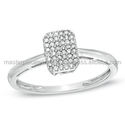 Popular 1/10 CT 10K white gold Diamond palladium rings online engagement diamonds ring