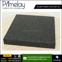 Non Slip Square Rubber Shooting Tiles