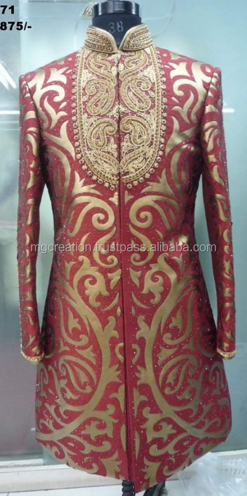 Indowestern wedding groom wear sherwani for men