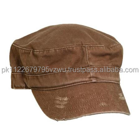 New fashion brand Cotton Brown Military Cadet Hat,100% cotton