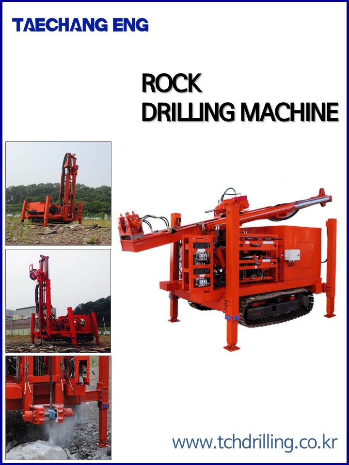 Taechang Eng water well drilling rig and Hydraulic Rock Drilling, core drilling Machine