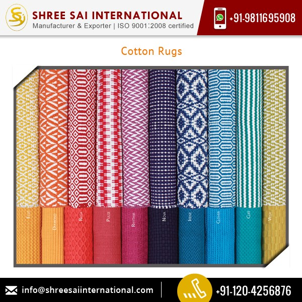 Long Lasting Quality and Shrink Resistance Cotton Rugs at Low Price