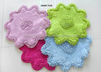 Chenille cotton bath mats supplier and exporter