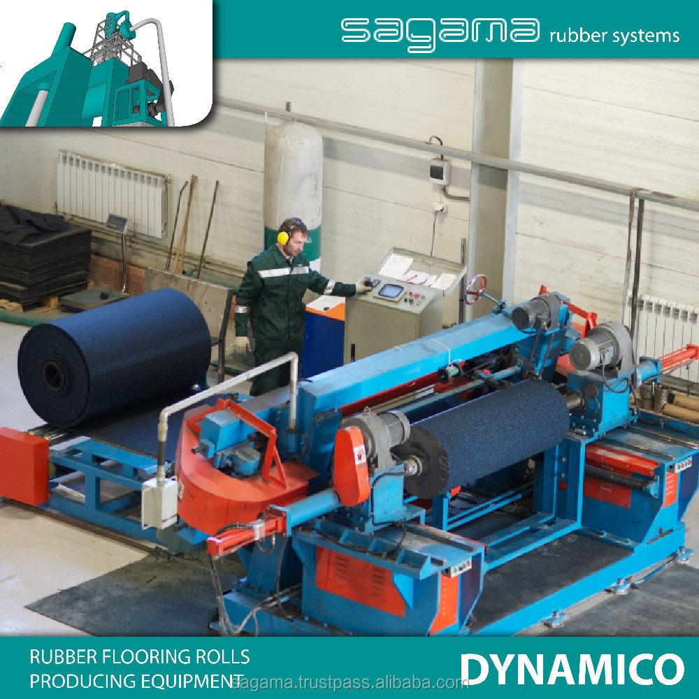 "Best factory price ""SAGAMA Dynamico"" Russian rubber mat making equipment"