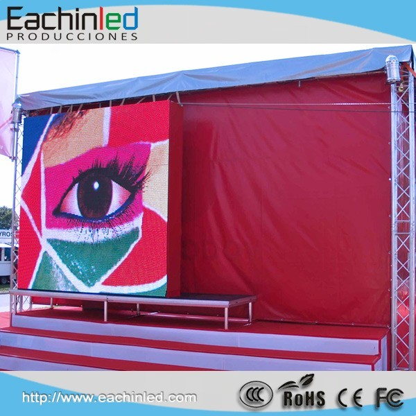 Climbing functions outdoor P5.95 truck led display screen for advertising