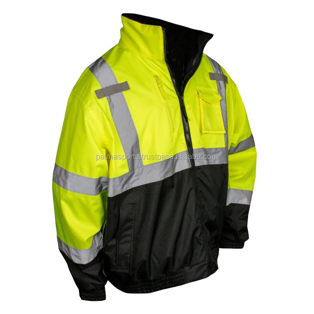 Wholesale Low Price Hi Visibility Reflective Fluorescent Security Jackets