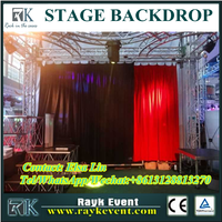 used pipe and drape for sale fabric designing portable stage curtain backdrop pipe and drape from China factory