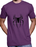 Vintage tradition base best offer handmade pleasant purple color spider printed front side xl size t shirts.