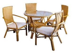 Atalanta Dining Set Rattan frame with weav peel