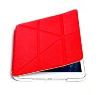 Suitable For IPad Mini 2/3 Smart Magnetic Case Cover Auto Sleep Wake Up Function Foldable Stand Mount Impact Resistant Red