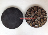 0410230915 Vietnamese Shell lacquer table face for coffee table, 100% handmade yellow-black color