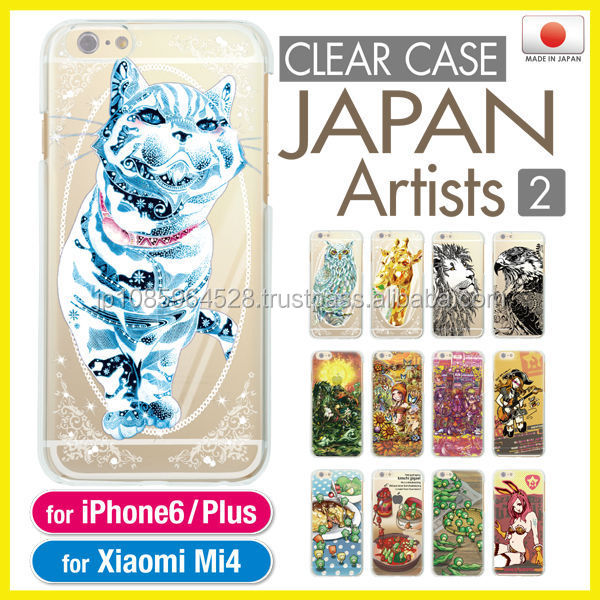Cute colorful clear cases for smart phone made in Japan