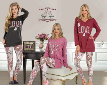 fashionable style leggings pajamas for young ladies