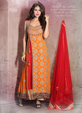Actress long anarkali salwar kameez suits\indian anarkali suits designs\orange latest design anarkali suits