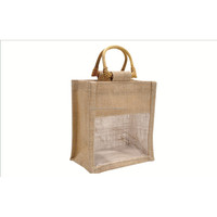 50pcs Jute Mini Carrier Bag (B0264)