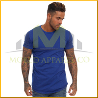Round bottom casual man long fit t shirt