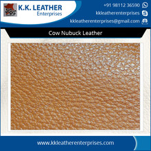 Tested Quality Cow Nubuck Leather Available for Bulk Leather