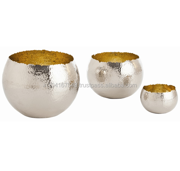 Hot Ing Copper Bowls Two Tone Bowl Gold Inside And Silver Outside Hammered Finish Serving Mixing Indian