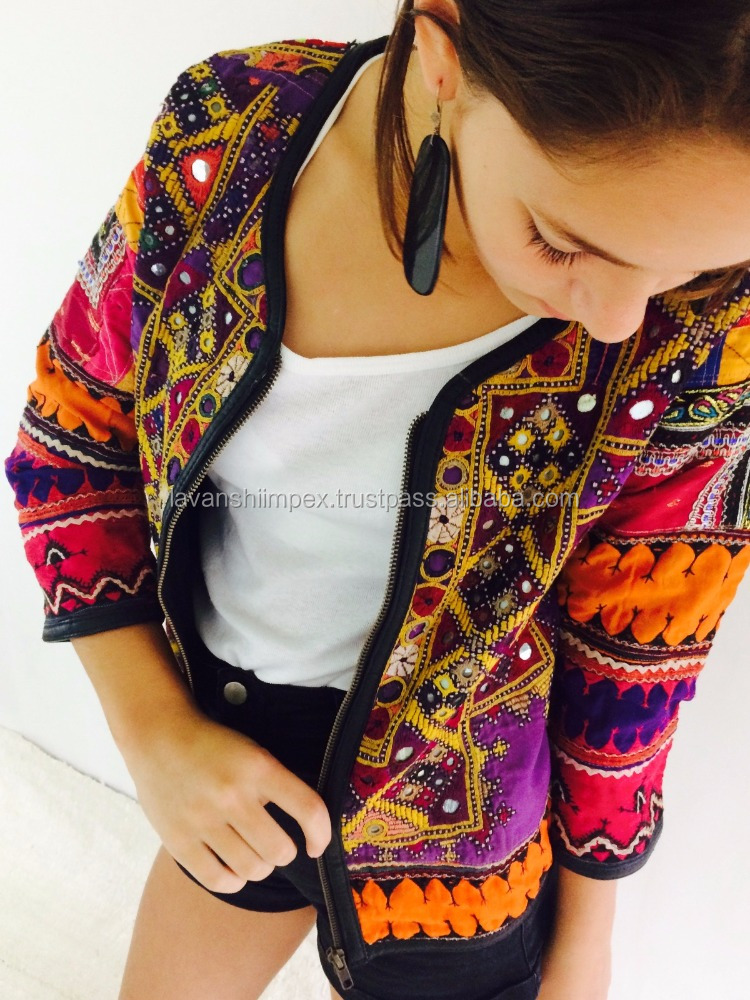 Women Girl's Coat Jacket Banjara Outwear Embroidered Work Jackets Banjara Jackets Wholesale