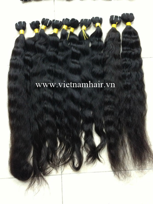 original 7A vietnam human hair, natural unprocessed vietnam human hair weft and wavy weave