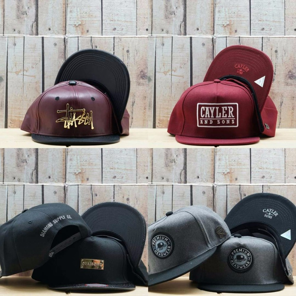Design your own brand snapback / customize your own company cap / designer snapback with leather brim