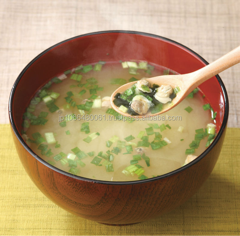 High quality and Easy and convenient miso soup fake food Shijimi clam miso soup at reasonable prices , small lot order available