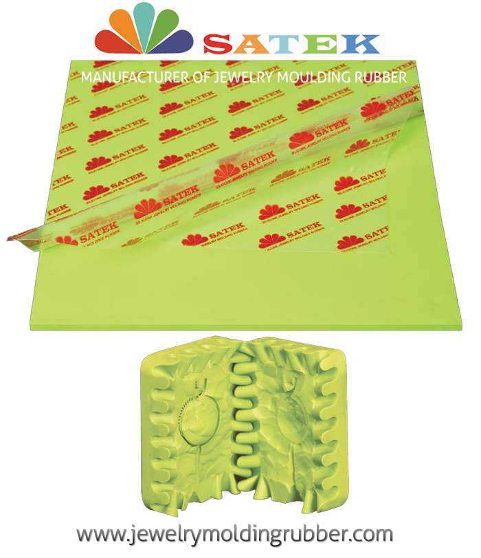 Satek Fluorescent Green Silicone Jewelry Molding Rubber