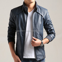 2015 fashion black mens hooded pakistan leather jackets for men karachi