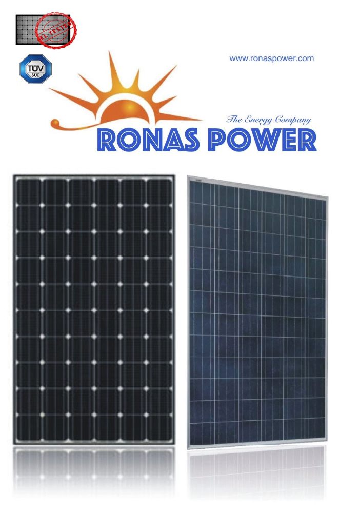 250W Mono and Poly Solar Panel