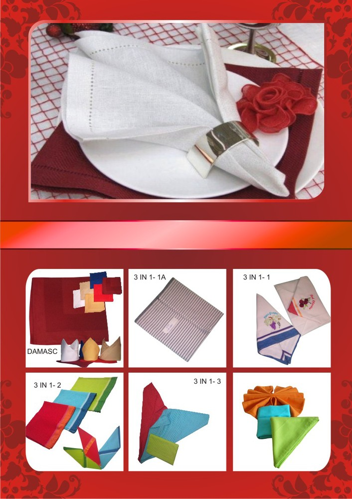 100% cotton damask napkin for hotel and restaurant