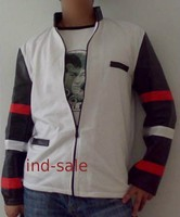 Tailor Made All Size Genuine Leather Jacket White Fashion Bruce Lee Style