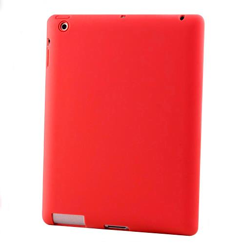 Silicon Case for New iPad 3-Red