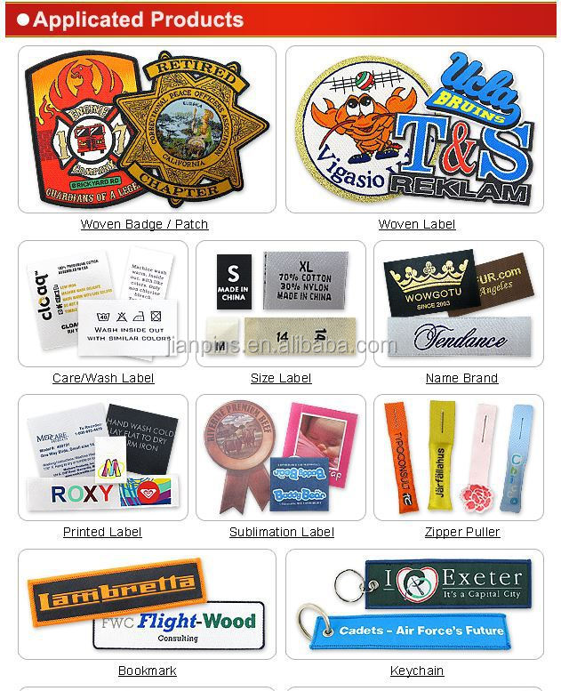 33 Years Manufacture Experience Custom Woven Clothing Label