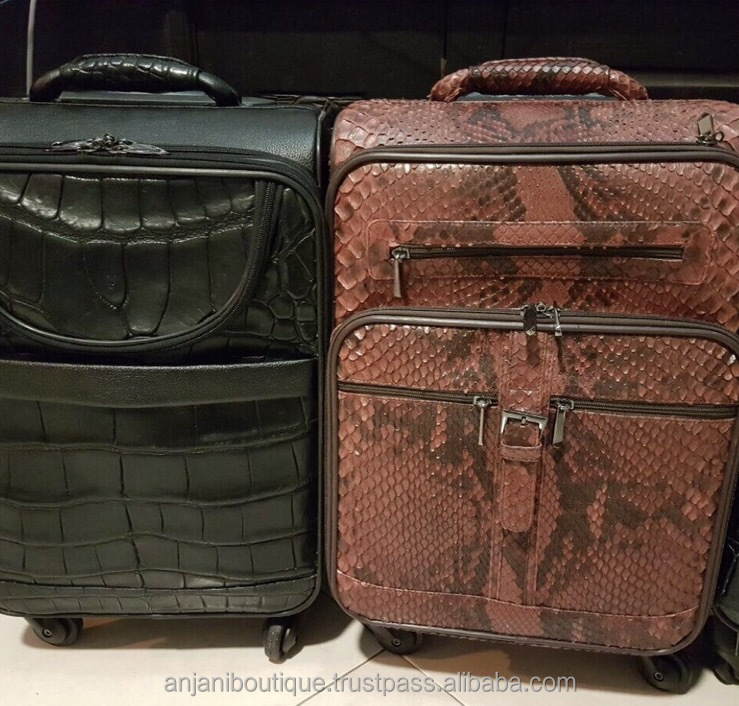 Limited Exotic Costumize Trolley Luggage Rare Leather