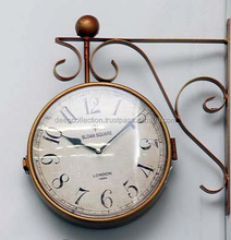 Wall Clock Hanging Double Sided