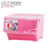 Space Saving Twostage Flip Stackable Plastic Boxes With Roller Plastic Storage Box