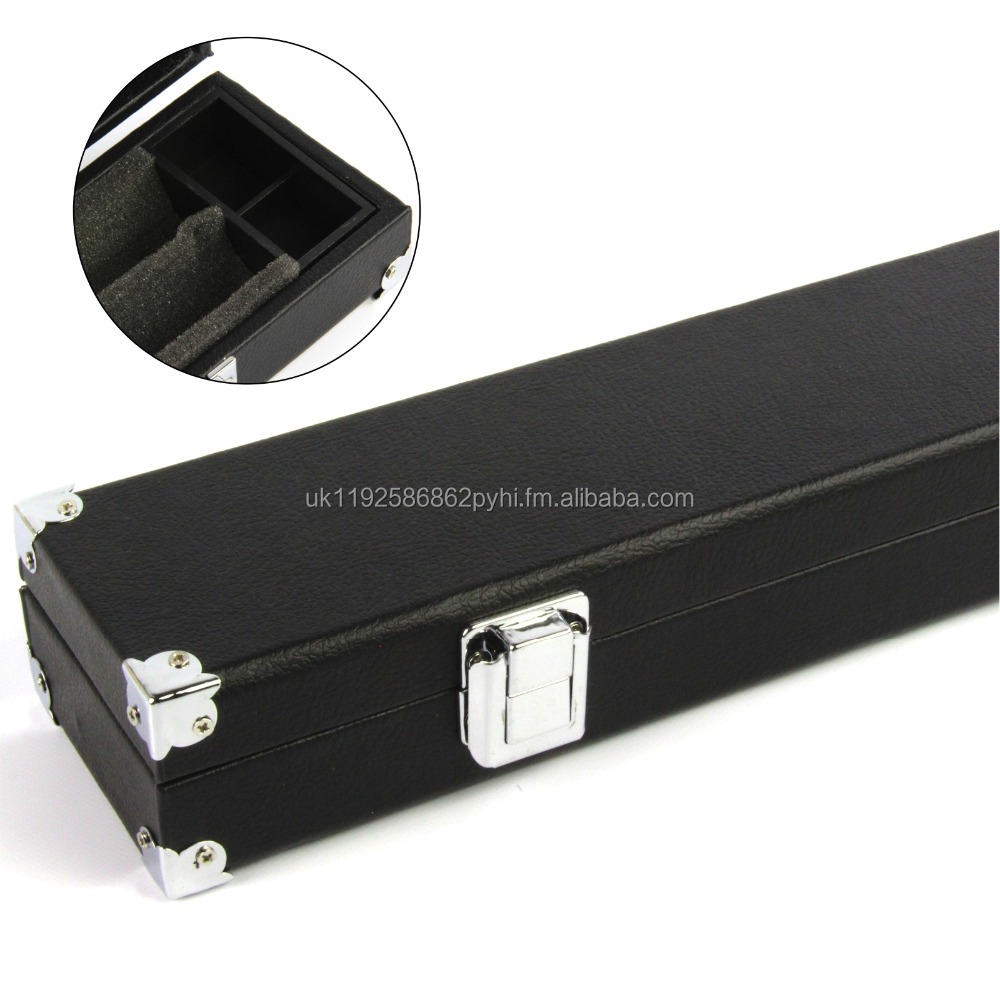 Foam Lined Reinforced Corners Cue Case for Pool or Snooker Cues -Available in 2pc, 1pc or 3/4 cues