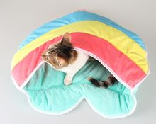 Rainbow Heart Cat Bed Comfortable Cat Beds Soft Warm Pet Beds