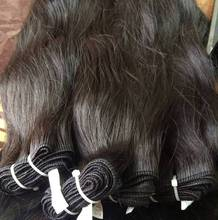 Machine weft Human hair 7A Grade Silky / straight/Curly Peruvian virgin RAW Hair