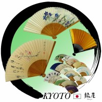 Compact and beautiful folding fan with a picture of cherry blossoms for appreciation