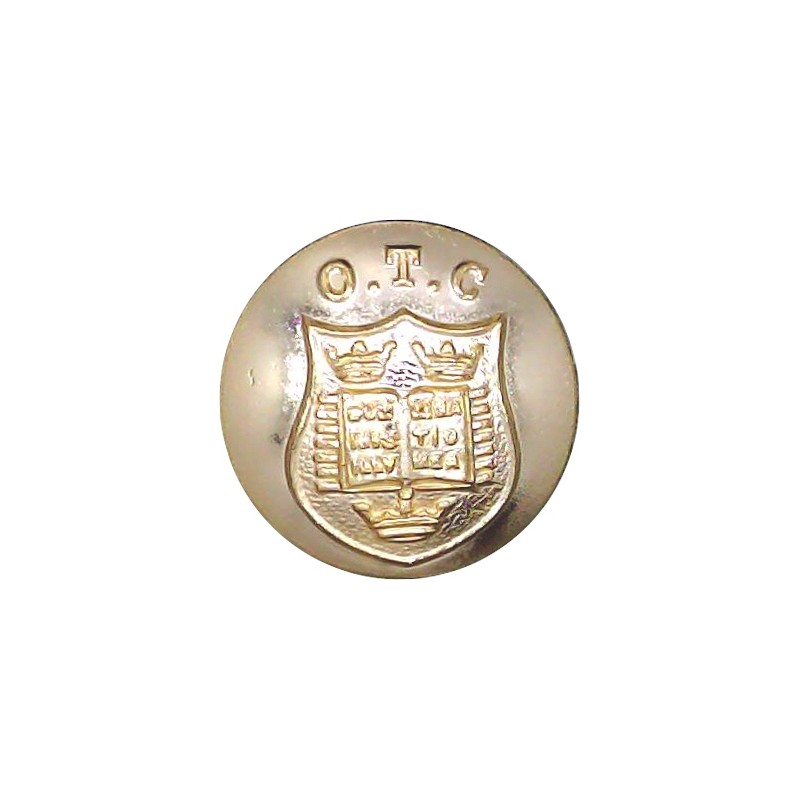 Oxford University Officers Training Corps 19mm - Gold Colour Anodised Aluminium Staybrite military uniform button