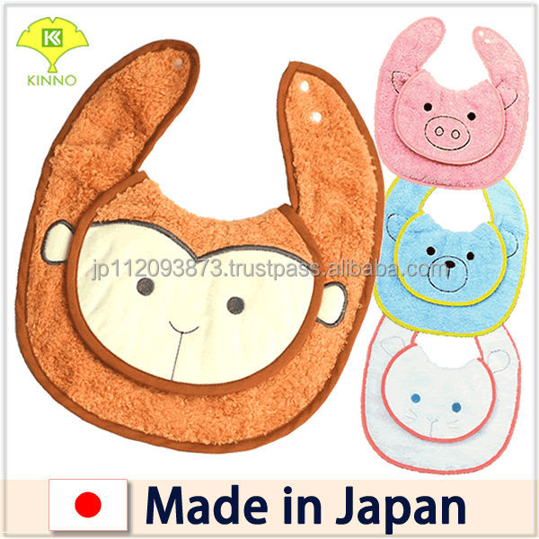 Skillful Japanese towel manufacturer's best baby bibs designed by Shinzi Katoh