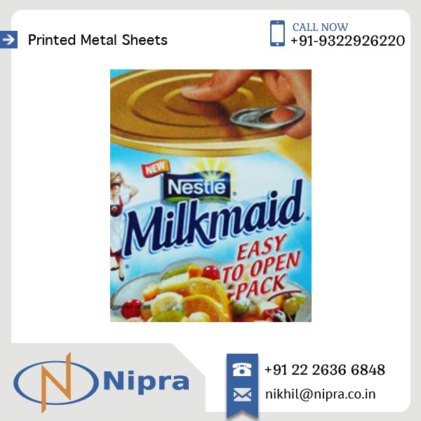 Multi-Color Printed Thick Tinplate Sheet For Canned Food Use at Lowest Cost