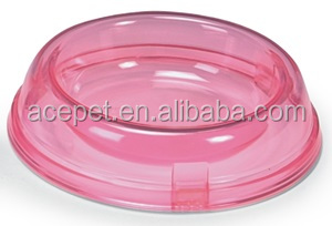 865-A Plastic Crystal Clear Round Pet Bowl Dog Cat Bowl