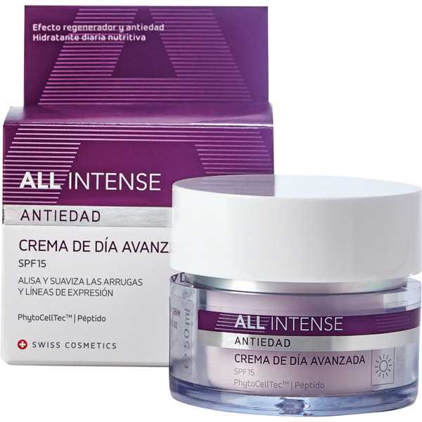 ALL INTENSE Anti-ageing SPF-15 advanced day cream jar 50 ml smoothes and softens wrinkles and laughter lines