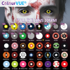 ColourVUE Sclera Lens, No 1 world leading Crazy lens worldwide, FDA approved & Uk Certified 2mm Black Full Eyes Sclera Lenses